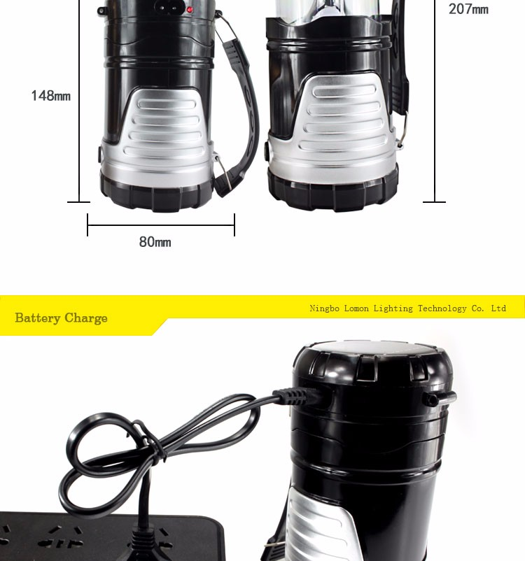 3in1 Outdoor Emergency Folding Portable Rechargeable Camping Lamp Led Solar Flashlight Lantern
