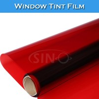 Removable 1.52x30M Red Security Heat Resistant Window Film