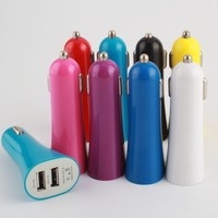 fashional design,trumpet shape, dual usb car charger for mobile phone and other digital devices