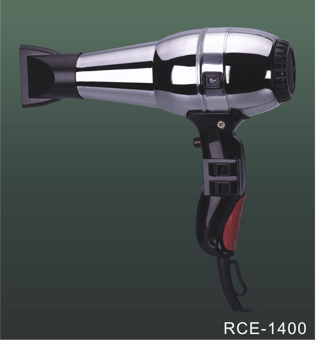 1600 Watt Professional Salon Hair Dryer Blow Dryer with Nozzle Fast Drying Hair Care & Long Cord for Home metal body
