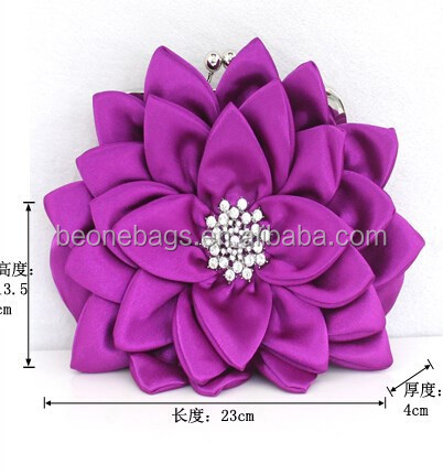 European Display Design Flower Crystal Stone Evening Bag Marketing Plan New Product