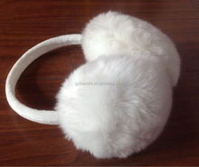 Fashional Knitted fluffy stereo Earmuff headphones with winter warm plush headphones with mic