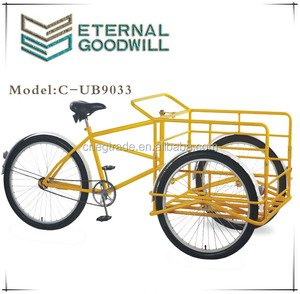 Adult tricyc UB9033 single speed cargo bike 26 inchs three wheel bicycle for customers