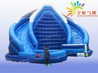 Wow!! amusement park inflatable slide//inflatable stair slide toys