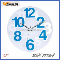 Round Colored Silent glass wall clock