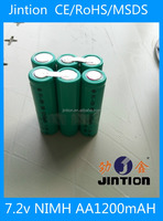 Jintion standard power tool rechargeable Nimh AA 1200mAH 7.2V battery pack