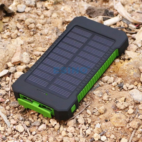 2016 Top Quality Ultra Thin 10000 mAh Solar Power Bank Panel Portable Charger