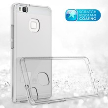 Ultra Slim 2 in 1 Phone Case for Huawei P9 Lite Hybrid Case with Hard Crystal Clear Acrylic Back and Flexible TPU Bumper Fusion