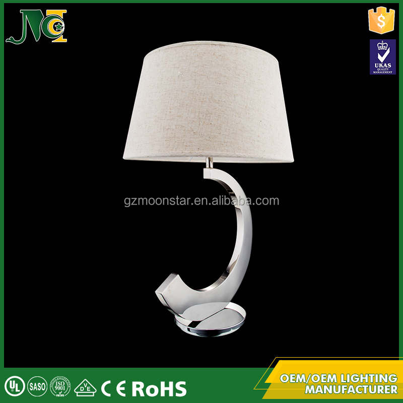 Modern fashion energy saving fabric lampshade table lamp