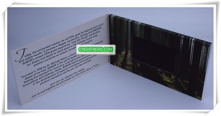 4.3 inch Lcd video mailer / video in print technology