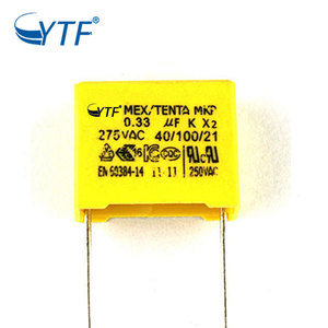 Hot Selling 275v Adjustable Speed K Film 334k Mkp Capacitor 0.33uf X2
