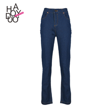 HAODUOYI Women Long Jeans Pants Trousers Denim Pencil Pants Slim for Wholesale