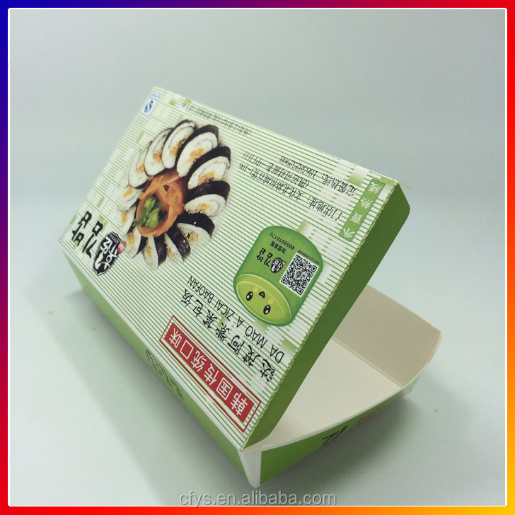 Custom Made Cheap Donut tomato fast food box/food sushi packaging box