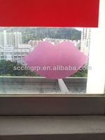 TPR adhesive decorative transparent window sticker and decals