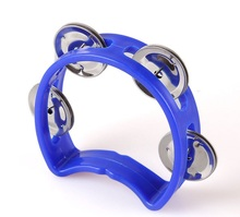 Chinese manufacturing wedding supplies Orff music plastic tambourine for children