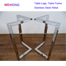 Dining table frame base Office Funiture Desk Frame Stainless Steel Table Legs Wholesal