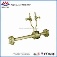 High pressure throttling device water flow meter