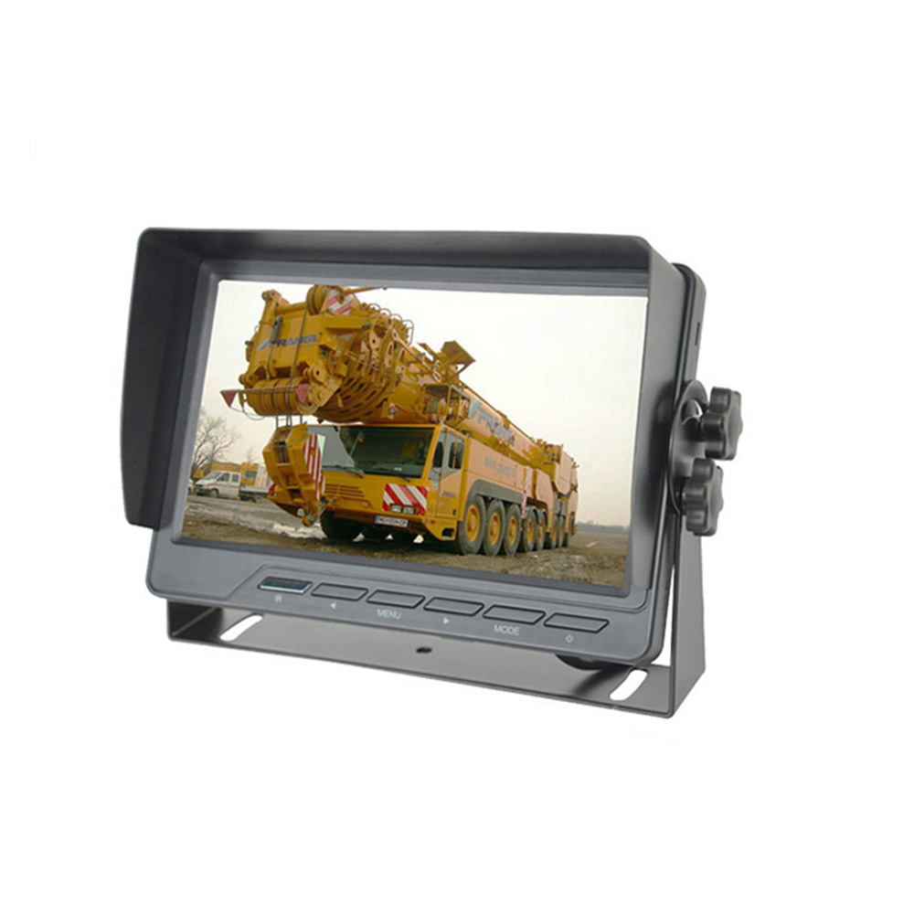 HD Car 7 Inch Digital Car LCD Monitor Built In Speaker With Sunshade Deasign