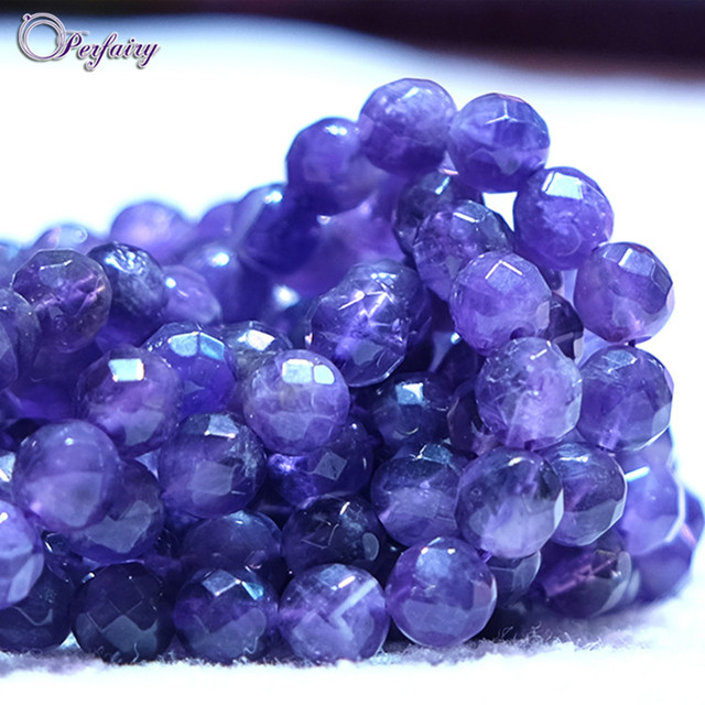 AM0002-PFB cheap wholesale 10 mm precious round faceted amethyst with small faces
