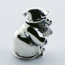 Plain Sterling Silver Gnome Bead Adorable Fine Details