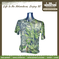 TA1-015B True Adventure Hunting Leaf Pirnted Cheap Wholesale Camo T Shirts