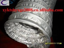 Stretchy pvc coated steel wire flexible duct hose hvac system