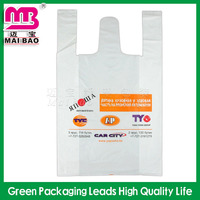 resistant plastic shopping bags supermarket packaging bag Poly t-shirt bags
