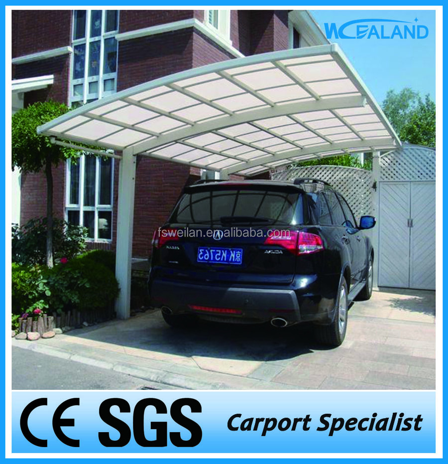 DIY polycarbonate car shed design