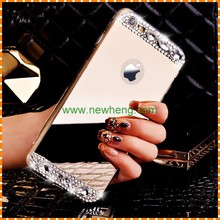 Luxury Bling Diamond Crystal Mirror Skin Soft tpu cover Case For iPhone 6/6s