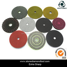 Wet resin polishing pad, diamond pad for granite