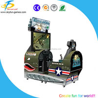 Single player 4D shooting game/exciting adult shooting machine air warrior