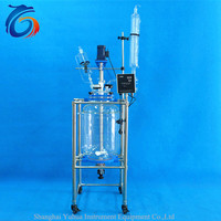 Great popularity double jacketed glass reactor maker