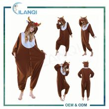 ALQ-A062 Unisex full body pajamas costume animal jumpsuits for men