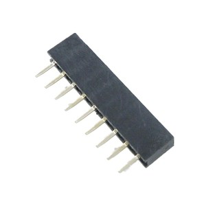 2.54mm Pitch 9 Pin Single Row Stackable Shield Female Header for PCB