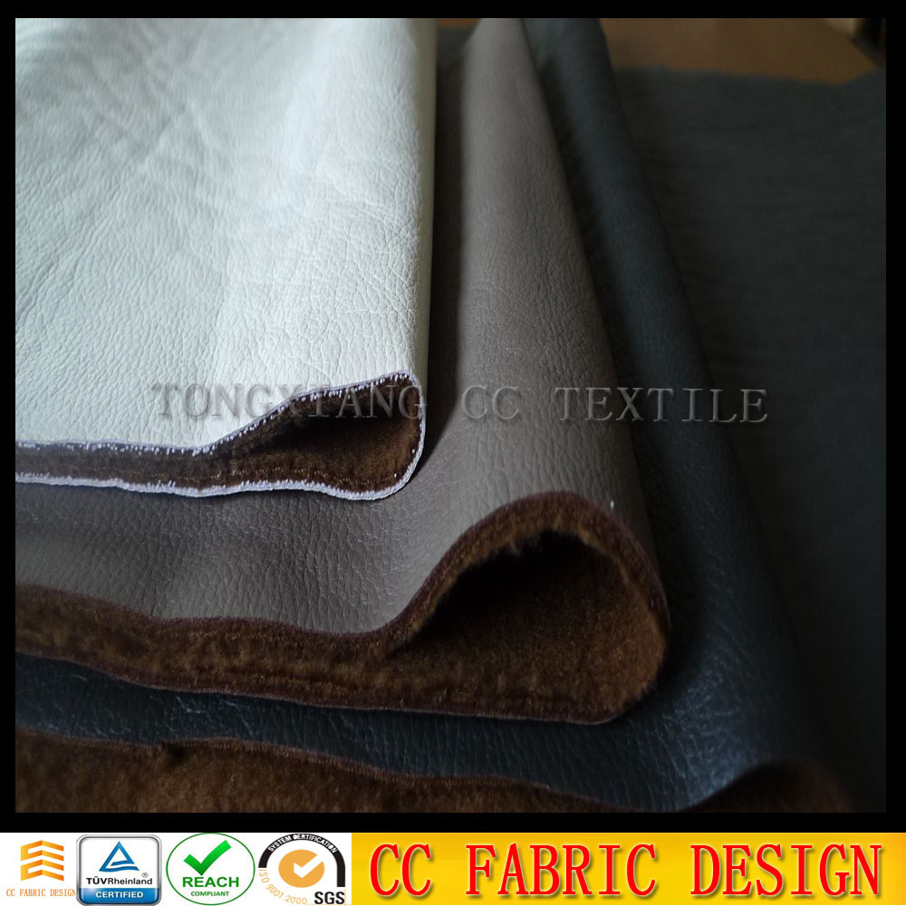 100% polyester breathable PU leather coating fabric for bag ,garment, curtain , sofa