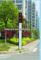 square conical traffic signal pole