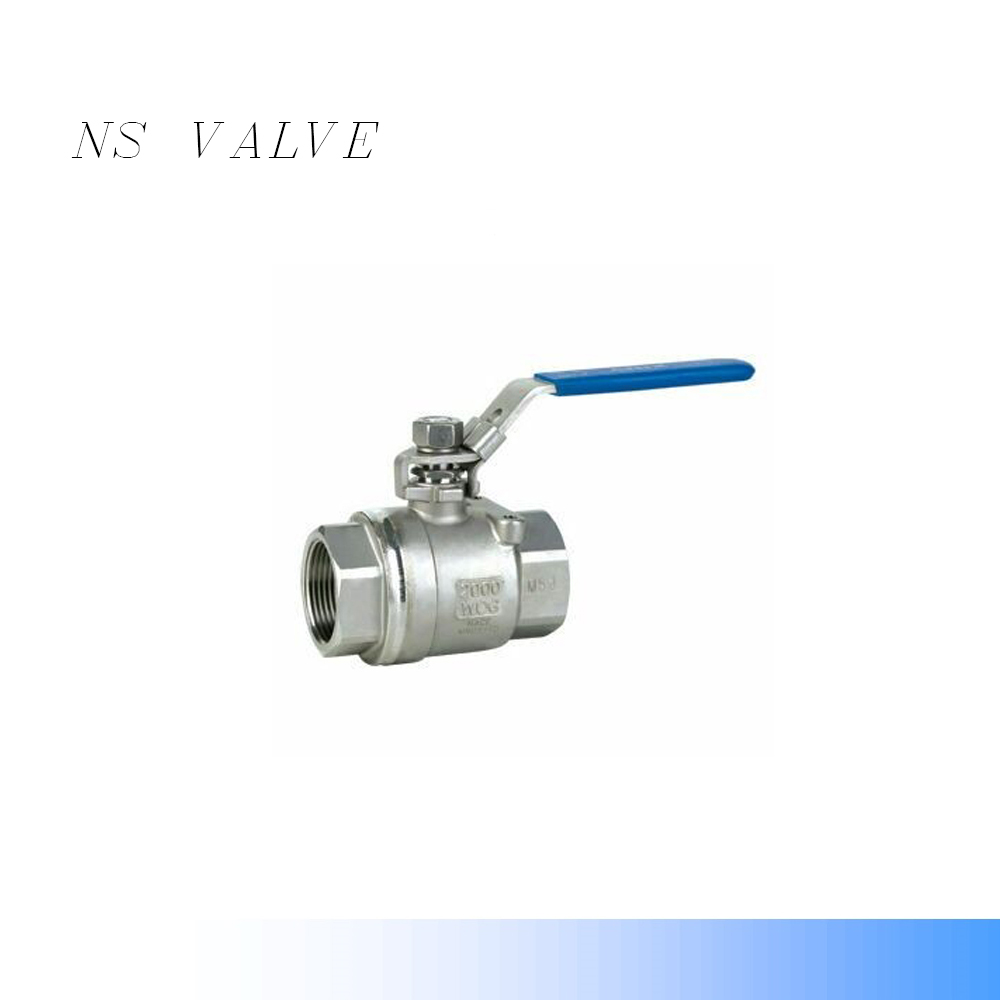 SS304 CF8 Two -piece (2P) screw ball valve