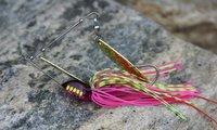 New Product Spinner Bait Double Blade Jig Head Metal Fishing Lure