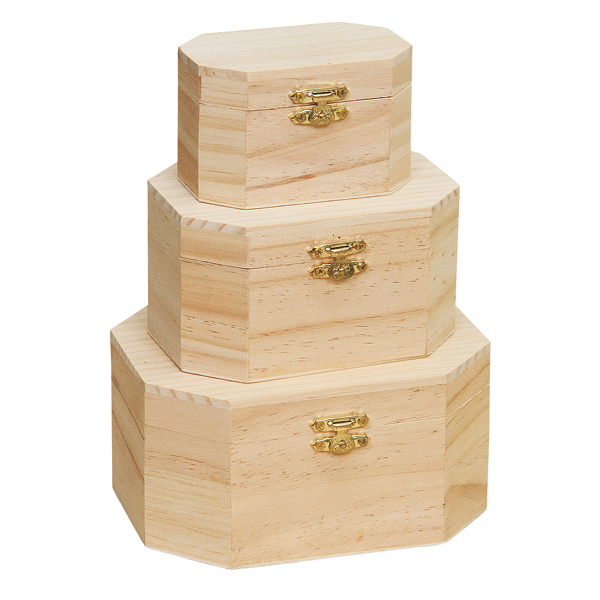 BSCI and FSC pine wood handmade natural color cheap wooden gift boxes