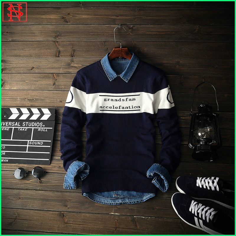 2016 new design spring wholesale knitted men jumpers