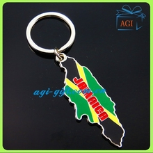 country map tourism souvenir keychain