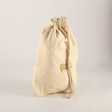 Custom printed sacks gunny material linen drawstring cotton bags