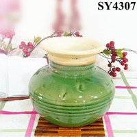 Flower vase for sale small green ceramic indoor planter pot wholesale