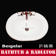 traditional porcelian enamelled cast iron bathroom sink
