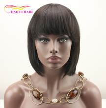 cheap layered short bob cut 14 inch silk top lace front remy human hair wigs with baby hair for black women