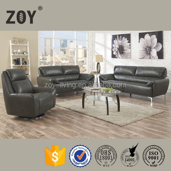 ZOY-99210 creative design leather living room sectional sofa 2+3,5 seater sofa set