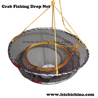 foldable crab fishing drop net folding fish trap
