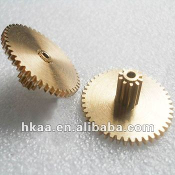small micor brass double spur gears