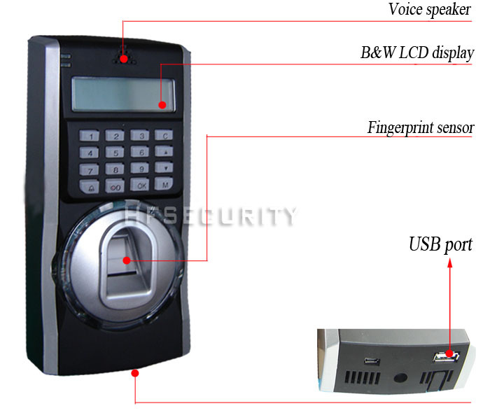 High Security Biometric Finger Print Machine for Access Control (HF-F5)