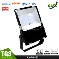 high quality 110v 220v 50w led rgb flood light outdoor spotlight